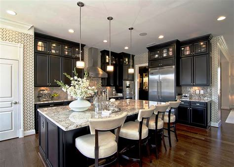 dark and light kitchen cabinets kitchen with hardwood floors by mario selar zillow digs