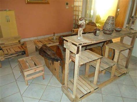 diy creative pallet console table kitchen island table