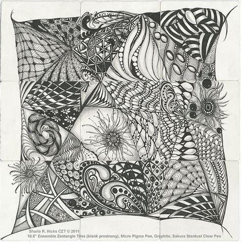 printable blank zentangle squares zentangle sler 169 sharla r hicks 10 5 quot ensemble zentan