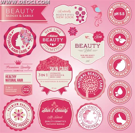 label design cdr free download beauty brand label design eps free download deoci com
