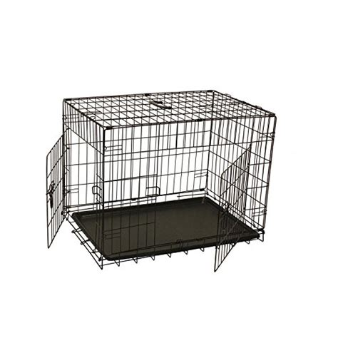 30 inch crate aleko 30 inch black 2 doors folding suitcase cat crate cage kennel with abs tray