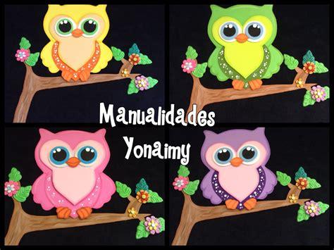 fotos de buhos hechos con fomi manualidades yonaimy