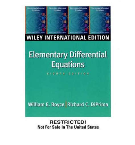 elementary theory of equations classic reprint books elementary differential equations william e boyce