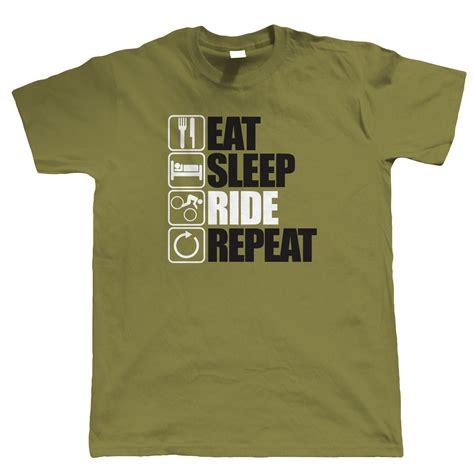 T Shirt Downhill Mtb eat sleep ride repeat mountain bike t shirt freeride