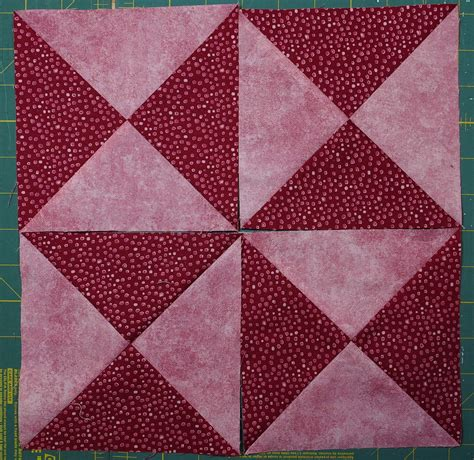 Quarter Square Triangle Quilt by Pinwheel Quilt Block Quilts By Jen