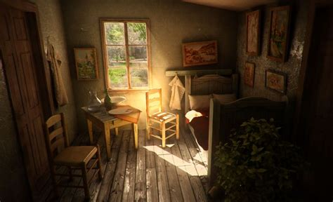 gogh the bedroom painting a render by slobodan denic from barcelona of what gogh