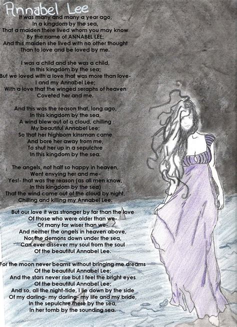 annabel lee by edgar allan poe annabel lee colored by relentlessart on deviantart