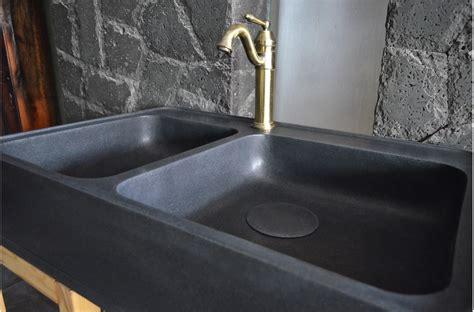 900mm black granite double bowl kitchen sink karma shadow