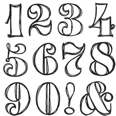 tattoo number fonts 25 best ideas about number fonts on number