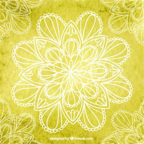 imagenes de fondo yoga fondo de yoga amarillo con flores descargar vectores gratis