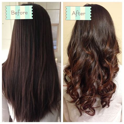 body wave perm before after partial perm before and after google search style idea