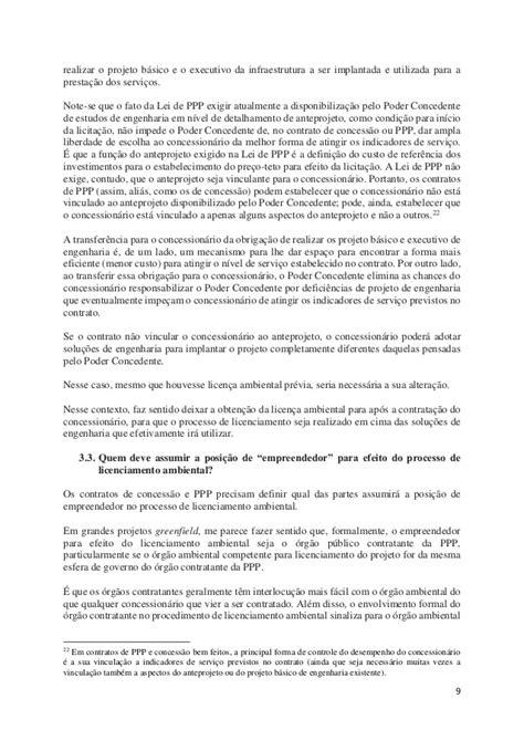 Distribuição de riscos ambientais em concessões e PPPs