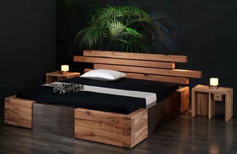möbel betten schlafzimmer blau braun