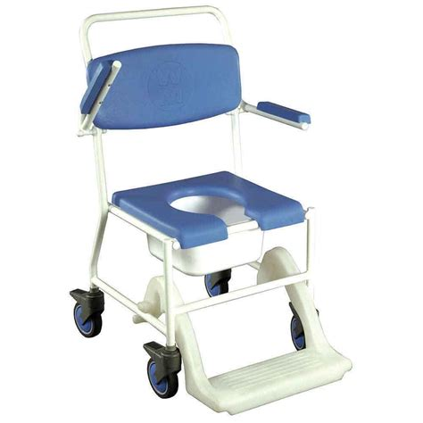 Bathroom Shower Chairs Mobile Shower Commode Chair Vat Exempt Nrs Healthcare