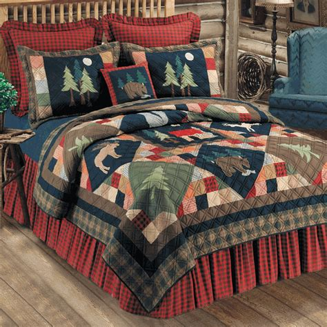 rustic bedding size timberline quilt black forest decor