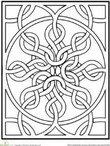 celtic mandala black and white celtic mandala worksheet education
