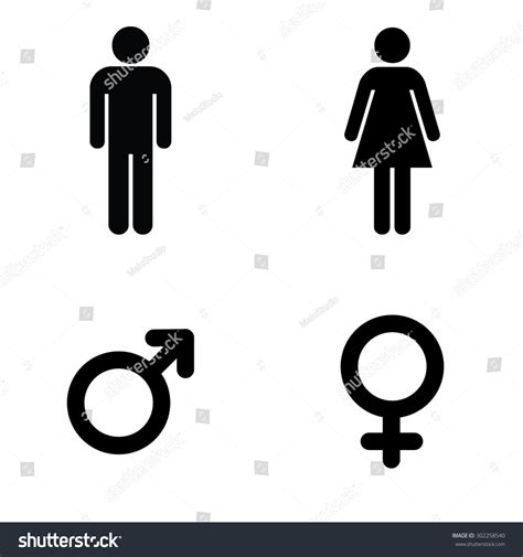 man woman bathroom symbol man lady toilet sign male female stock vector 302258540