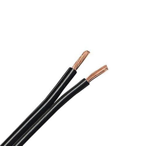Outdoor Lighting Wire Dripstone 100ft Low Voltage 12awg 2core Outdoor Light Parallel Flat Bare Copper Wire