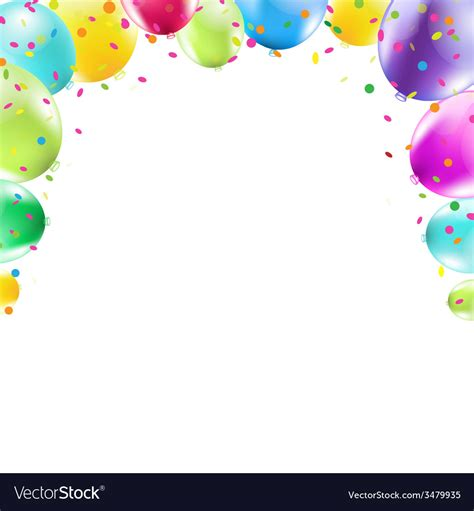 color frame color balloons frame royalty free vector image