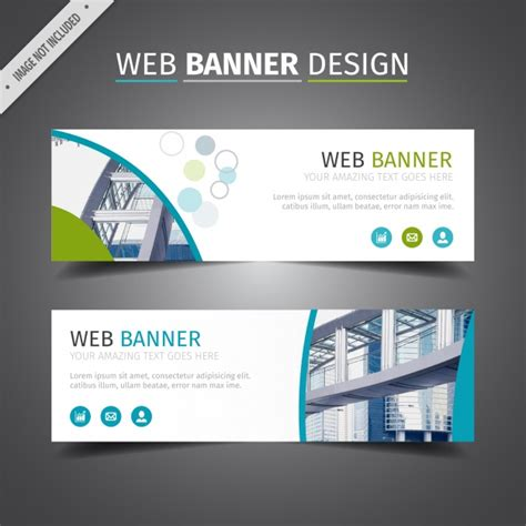 design banner online website blue and white web banner design vector free download