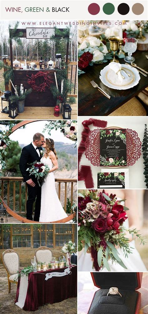 unique cozy winter wedding colors  swoon
