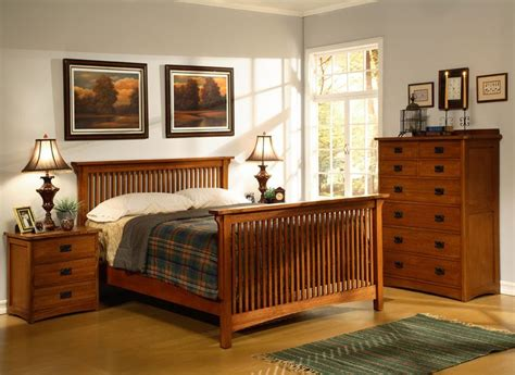 mission oak bedroom set home furniture store american craftsman slatted bedroom