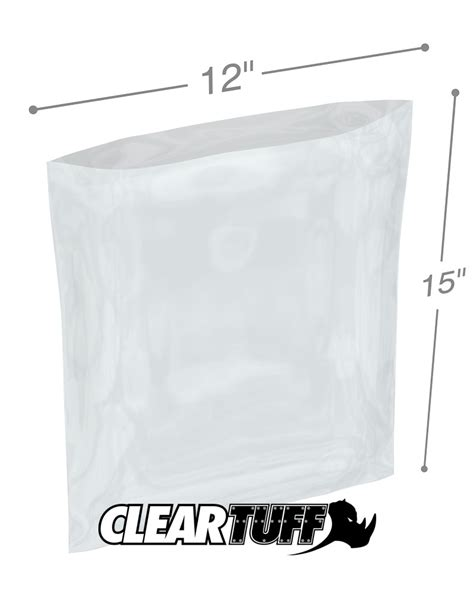 Polybag 12 X 15 12 quot x 15 quot 1 mil poly bags