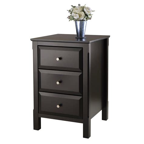 accent end table winsome wood timmy accent table black amazon ca home