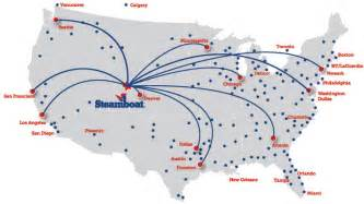 us map airport hubs direct flights to steamboat springs from nearly every