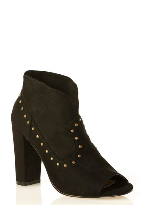 shooties boots studded peep toe shooties ankle shooties cato fashions