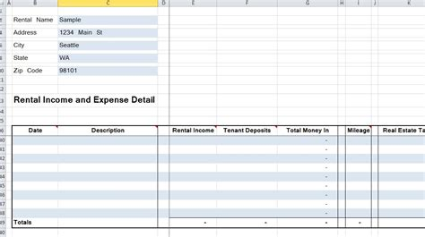 rental property income and expenses excel spreadsheet