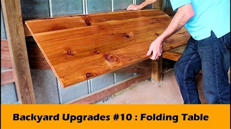 simple fold  table bar diy backyard upgrades
