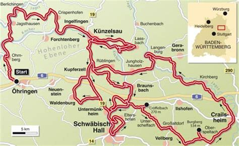 Motorrad Online Maps by Tourentipp Hohenloher Ebene Infos Karte Tourenfahrer Online