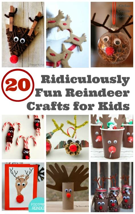 reindeer crafts 20 ridiculously reindeer crafts for