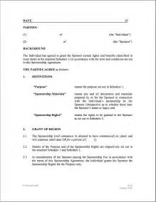 Sponsorship Letter Of Agreement Doc 616796 Agreement For Individual Bizdoska