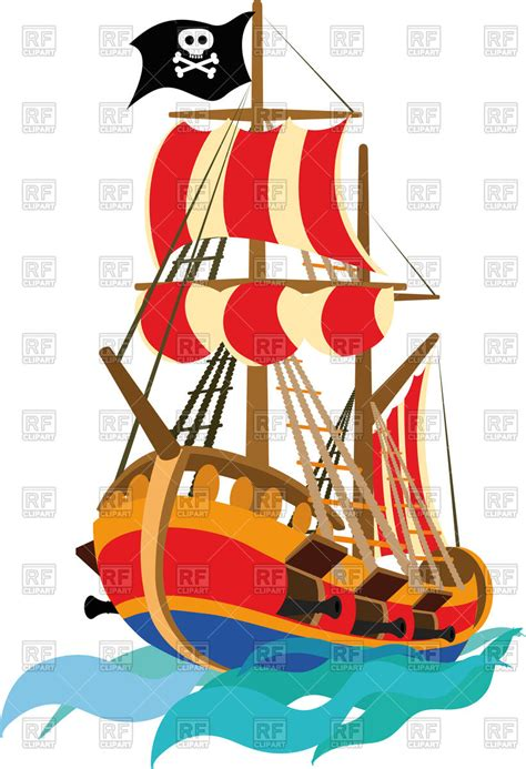 free vector clipart pirate ship royalty free vector clip image 94583