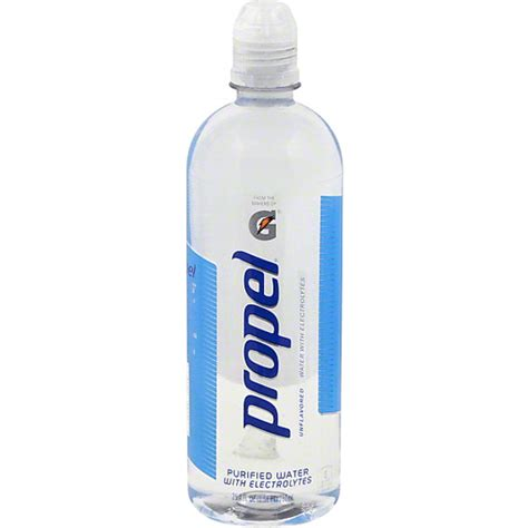 propel water  electrolytes unflavored spring