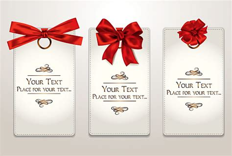 holiday gift cards with red ribbons and bows 2 free