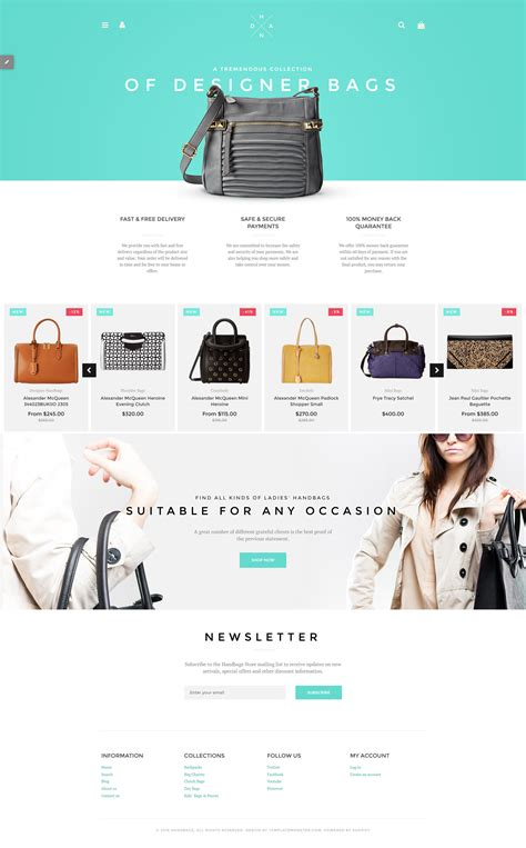 Shopify Boutique Themes | handbags shopify theme