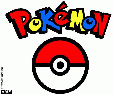 pokemon logo coloring pages free coloring pages of pok 233 mon logo