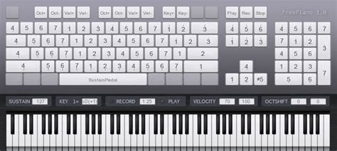 play piano with computer keyboard freepiano 2 2 2 download freewarelinker com