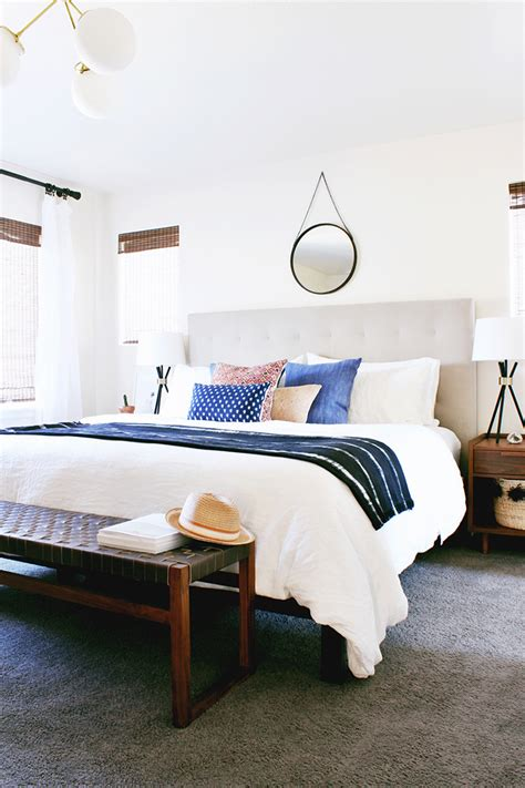 Modern Boho Bedroom Decor by A Modern Eclectic Bedroom Reveal Hither Thither