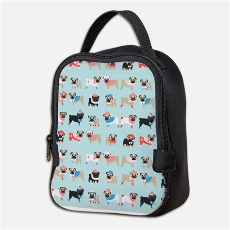 pug bag pug lunch bags totes insulated neoprene lunch bags