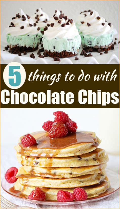 8 Things To Do With Chocolate by 5 Things To Try With Chocolate Chips S Ideas