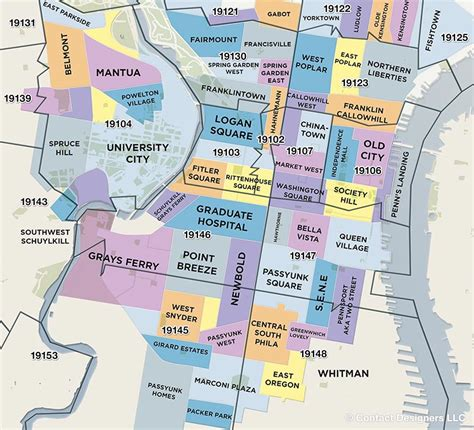 Philly Zip Code Map by Philly Neighborhoods Philadelphia Living Philadelphia