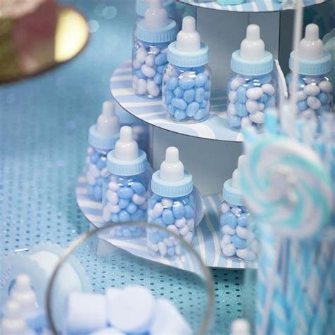 Baby Shower Favor Bottles blue baby bottle shower favors it s a boy theme baby