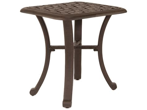 castelle cast aluminum 20 square side table ready