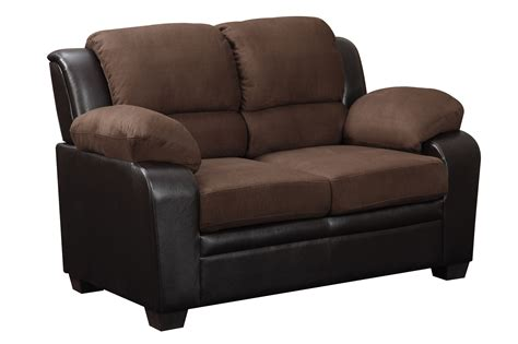 microfiber loveseat u880018kd chocolate microfiber loveseat by global furniture