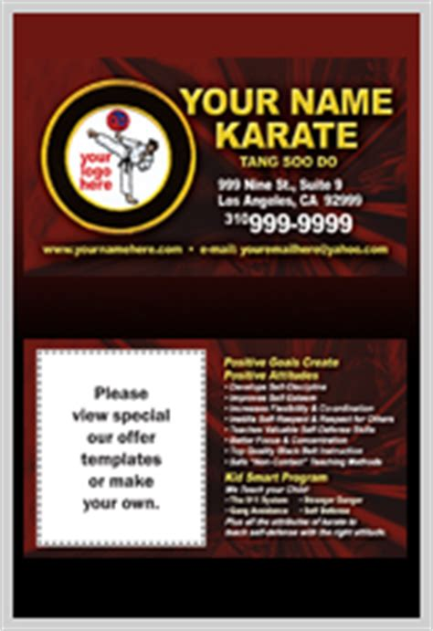 martial arts business card templates martial arts flyers