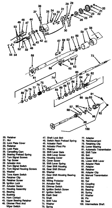 ididit gm column wiring diagram flaming river column